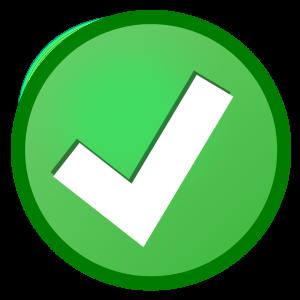 Símbolo de verificação verde